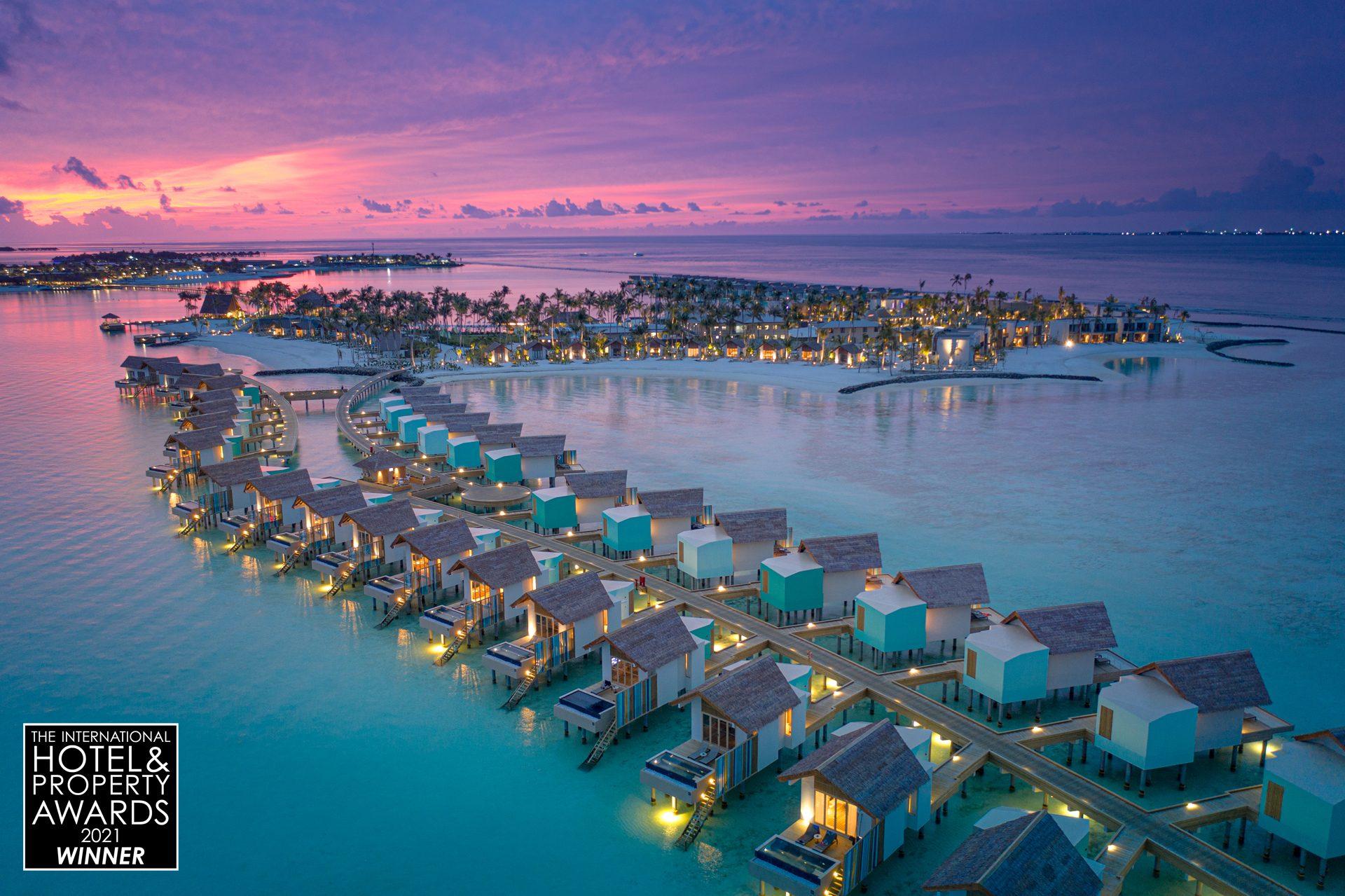 Hard Rock Hotel Maldives - Aerial shot